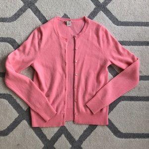 Pink cashmere Jcrew cardigan, Small